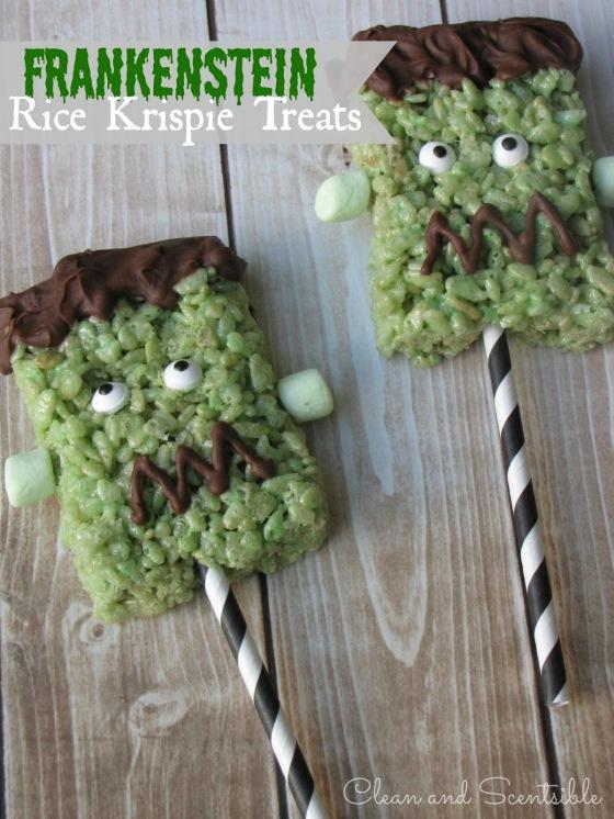Frankenstein Rice Krispie Treats Title